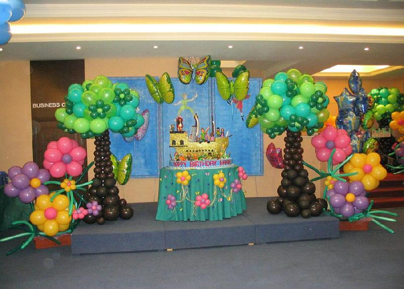 Balloons decorations for birthday party favors ideas for Balloon decoration idea